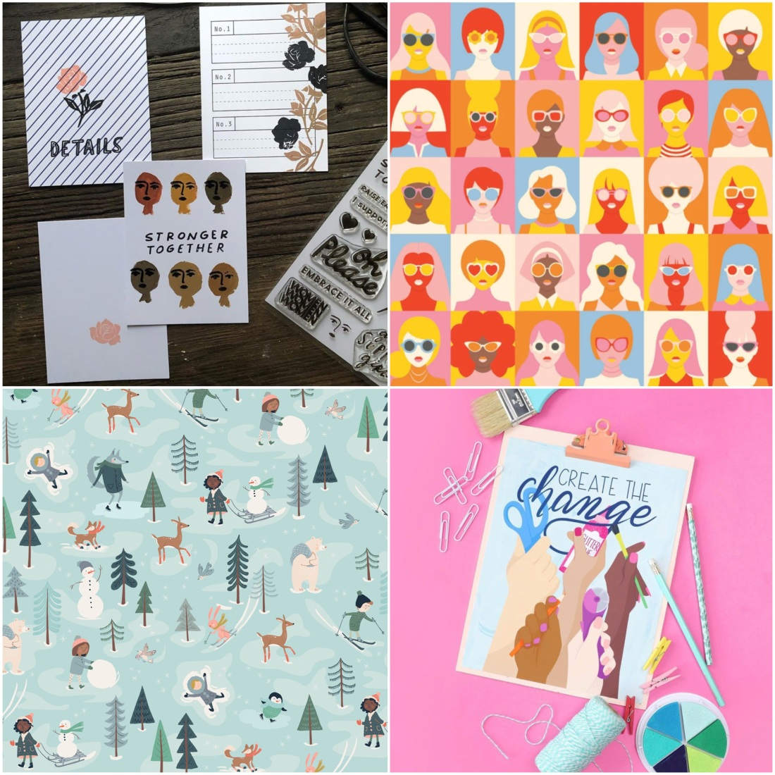 Examples of diversity in paper crafts
